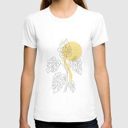 Monstera line Art T-shirt