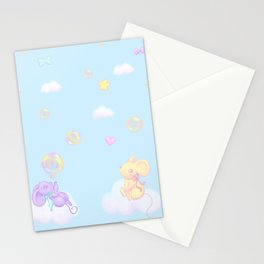 Bubbly Mice Sky Stationery Cards
