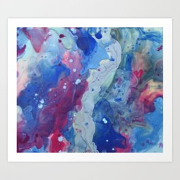 The blurred lines between silver Art Print