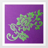 floral pattern Art Prints featuring Floral Pattern by Marjolein