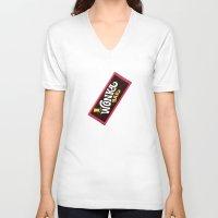willy wonka V-neck T-shirts featuring Wonka Chocolate Bar by ThreeBoys