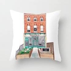 London: Wallace & Co. by Charlotte Vallance Throw Pillow