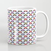 pokeball Mugs featuring Pokeball Pattern by Haley Martin