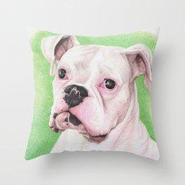 The White Boxer Throw Pillow