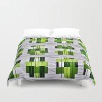 grass Duvet Covers featuring Grass by Yukska