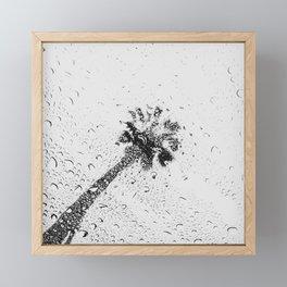 Modern Black and White Palm Tree 1 of 2 Framed Mini Art Print