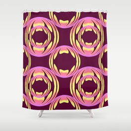 spheres pattern Shower Curtain