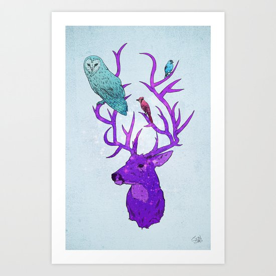 Antlers Variation I Art Print
