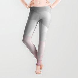 pink and grey polygon 2018 Leggings