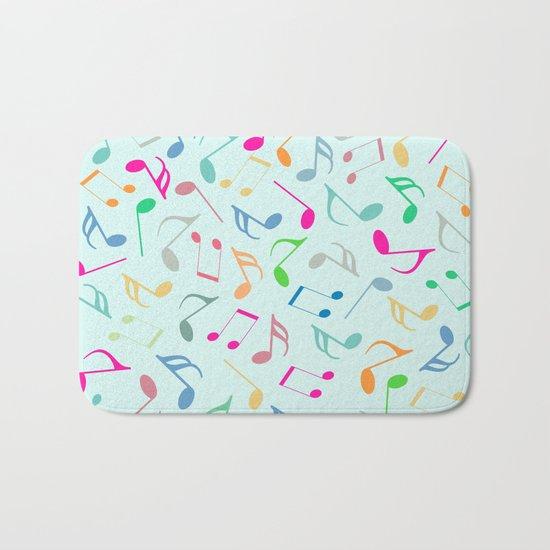 Music Colorful Notes Bath Mat