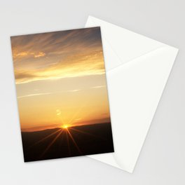 September sunset 3 Stationery Cards