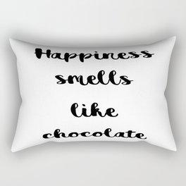 Happiness smells like chocolate Rectangular Pillow