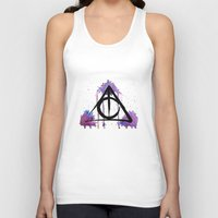 deathly hallows Tank Tops featuring The Deathly Hallows by AliceInWonderbookland