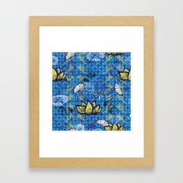 Kabuki_lotus Framed Art Print