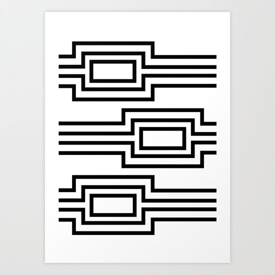 Horizontal stripes Art Print
