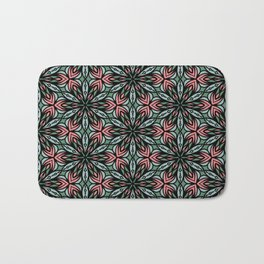 Geometric Flowers Bath Mat