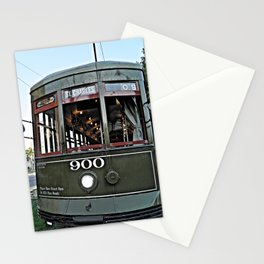 New Orleans St. Charles green streetcar Stationery Cards