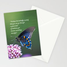 Beautiful Butterfly Quote Stationery Cards