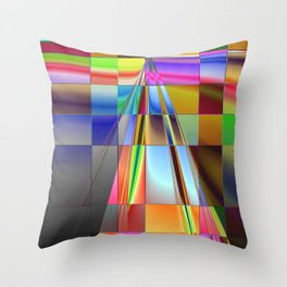 highway to rectangular city Throw Pillow