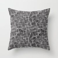 grid Throw Pillows featuring Grid by ChantalNathalie
