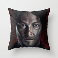 daryl Throw Pillows featuring Daryl by Voss fineart