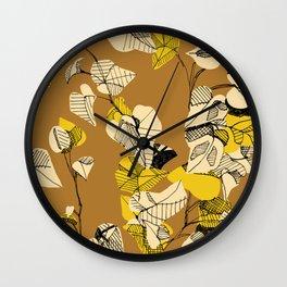 Yellow Ivy Wall Clock