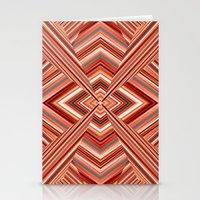 orange pattern Stationery Cards featuring Pattern orange by Christine baessler