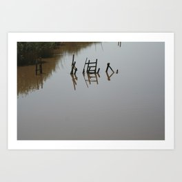 The river 's cryptic message Art Print