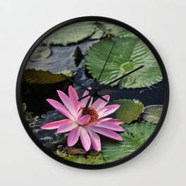Water Lily, II Wall Clock