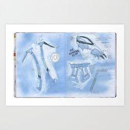 Ice Climbing 101 Art Print