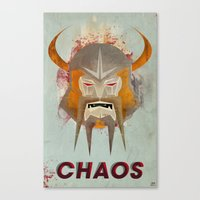 chaos Canvas Prints featuring Chaos by James Biggie