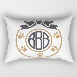dog monogram Rectangular Pillow