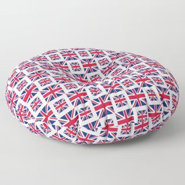 flag of uk - with square Floor Pillow