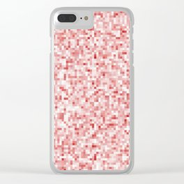 Scrambled Scarlet Clear iPhone Case