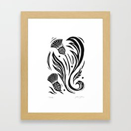 Thistle - Black and White Framed Art Print