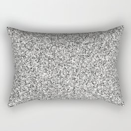 Silver Glitter Rectangular Pillow