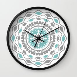 Heart Mandala – Blue Wall Clock