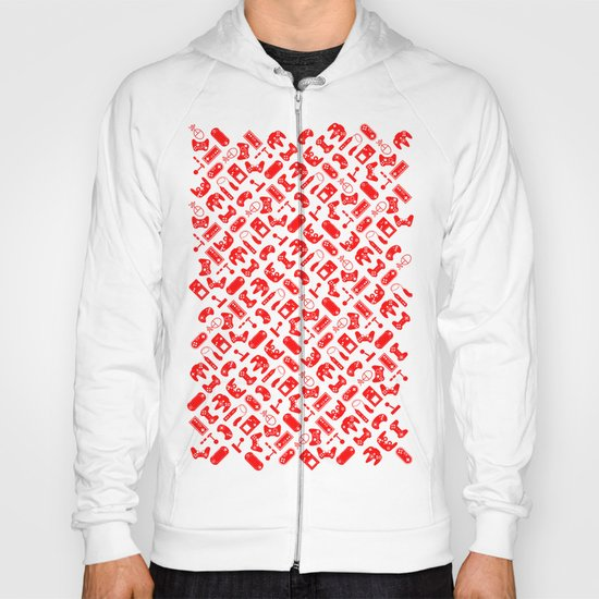 Control Your Game - White on Red Hoody