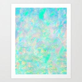 Light Blue Opal Art Print