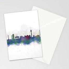 Berlin City Skyline HQ3 Stationery Cards