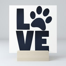 Love Pets Paw Cat Dog Cute Mini Art Print