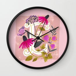 Artsy Alphabet: E Wall Clock