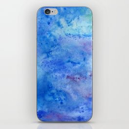 Mariana Trench Watercolor Texture iPhone Skin