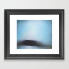 Stair Hole - Dorset blue abstract seascape painting Framed Art Print