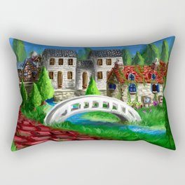 RPG Town Rectangular Pillow