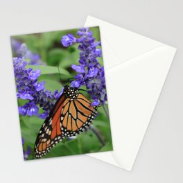 Purple Flowers & Butterfly Stationery Cards