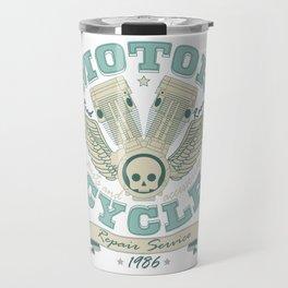 Vintage Retro Motorcycle Engine Mechanic Gift Travel Mug