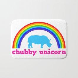 Chubby unicorn Bath Mat