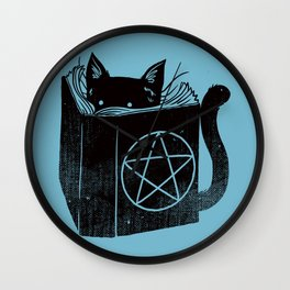 WITCHCRAFT CAT (Blue) Wall Clock