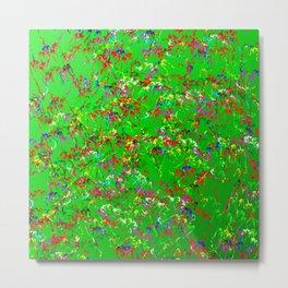 Flowers on meadow Metal Print